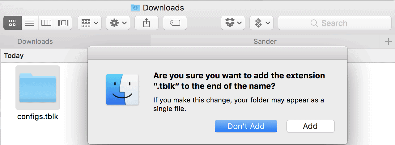 Add TBLK Extension