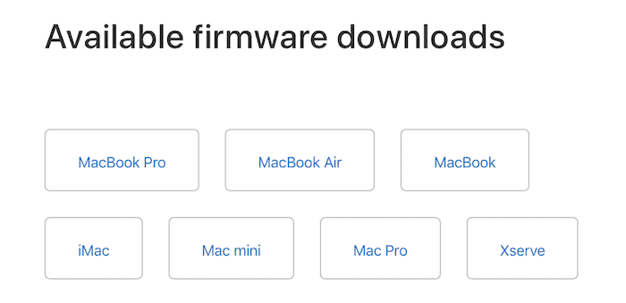 EFI firmware downloads