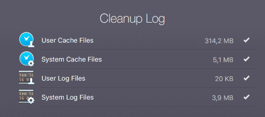 Cleanup Log in CleanMyMac