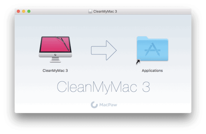CleanMyMac DMG file mounted