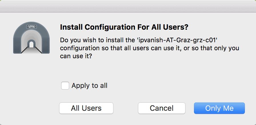 Configuration File Installation  Prompt 2