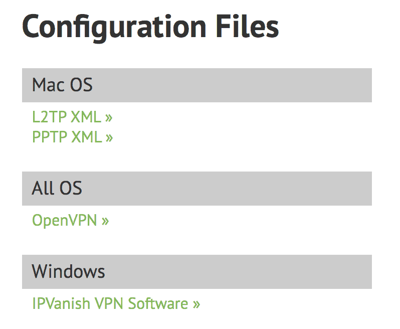OpenVPN Configuration Files IPVanish