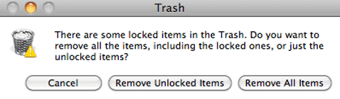 Emptying Stuck Items