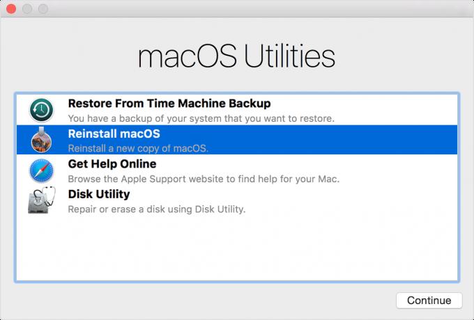 Reinstalling macOS