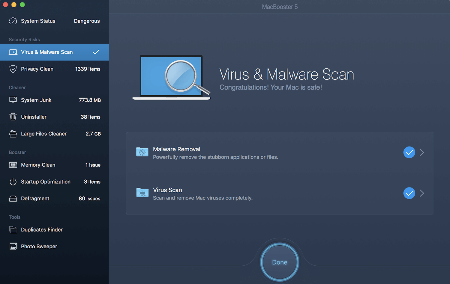 Virus and Malware Scan