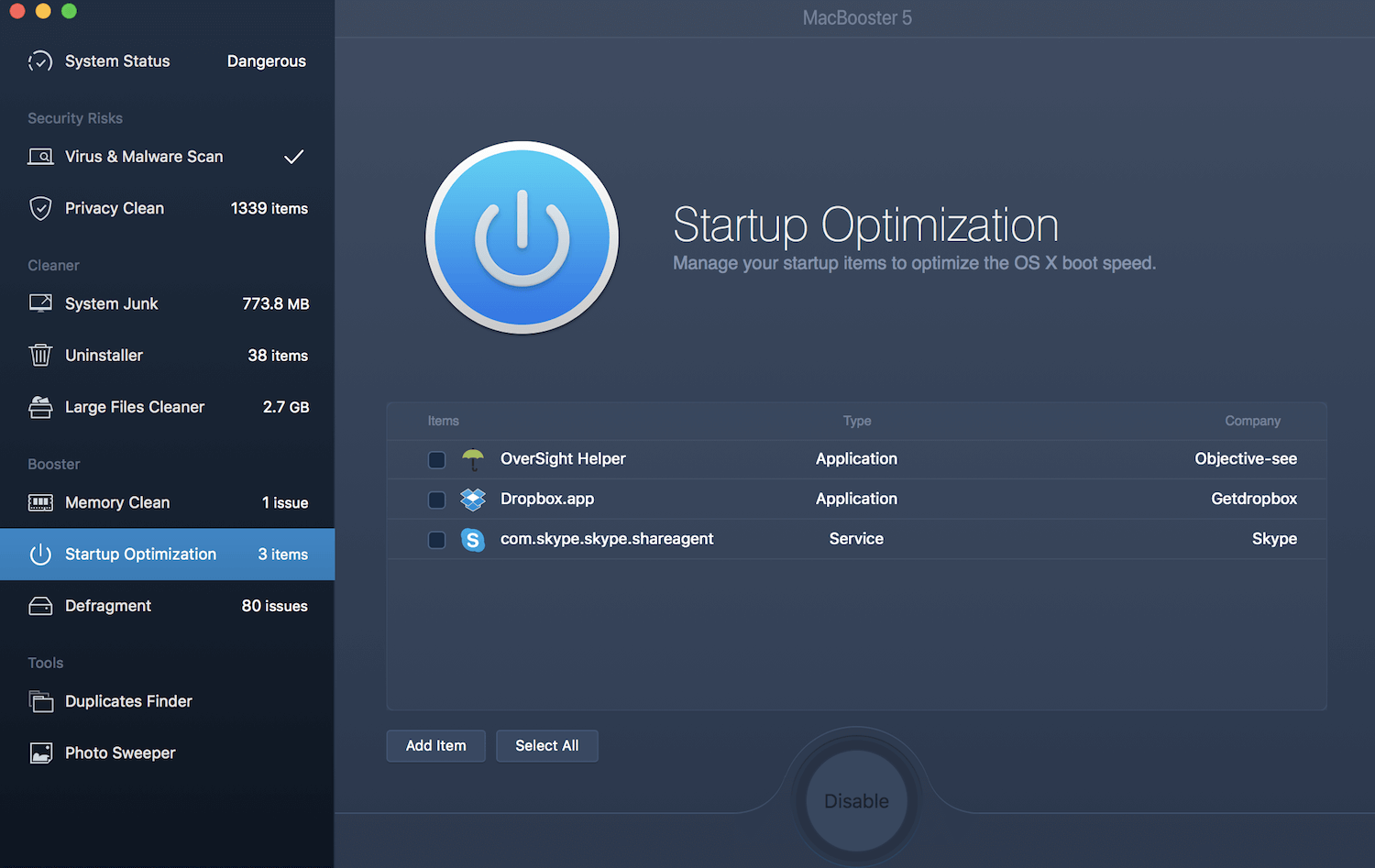 The Startup Optimizer