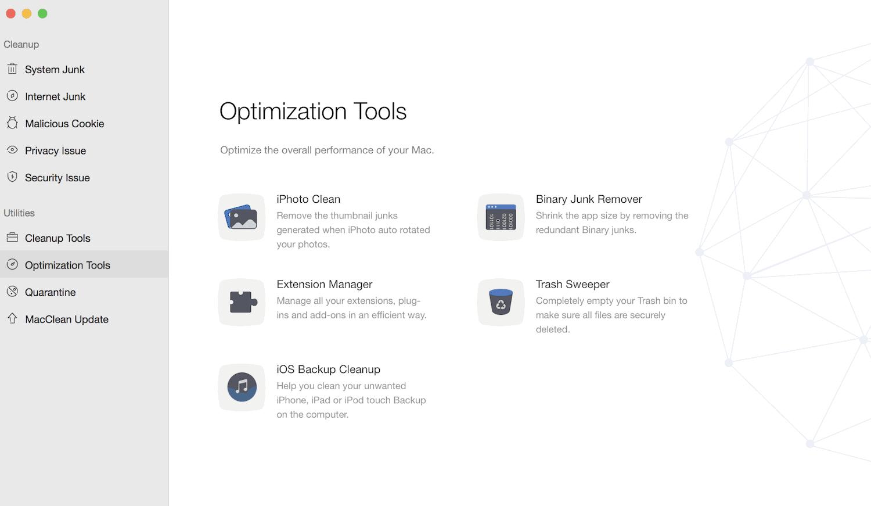 MacClean Optimization Tools