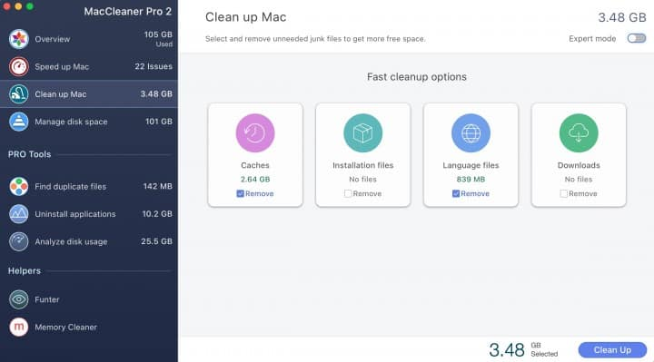 MacCleaner Pro Clean Up Mac