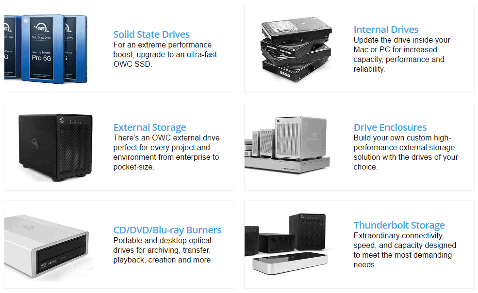 Storages Offered by MacSales.com