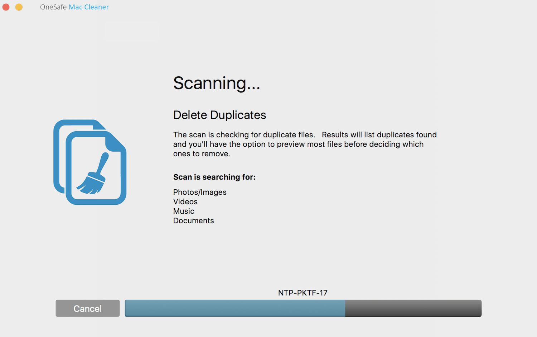 Scanning for Duplicates
