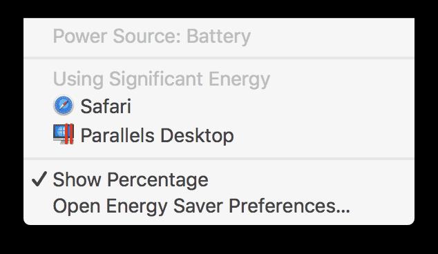 Energy impact