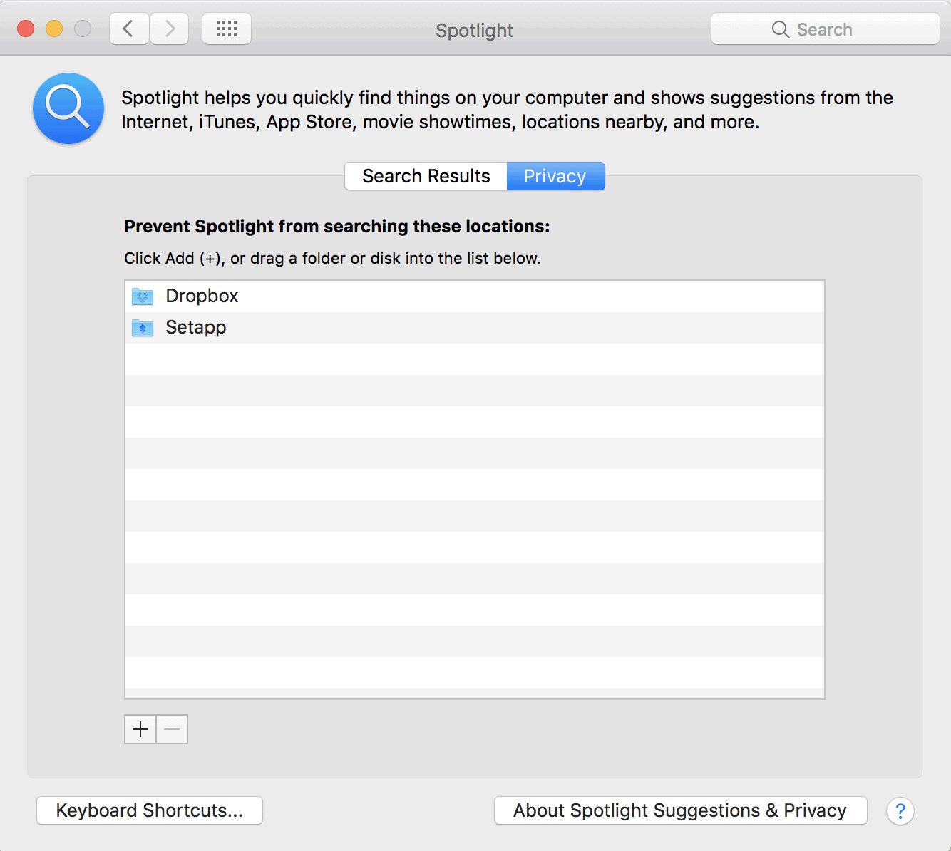 Reindex Spotlight via System Preferences
