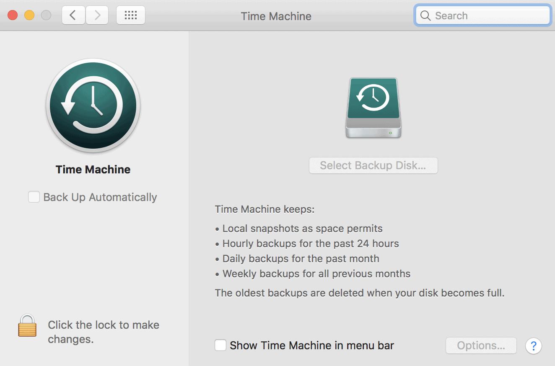 Set Up Time Machine
