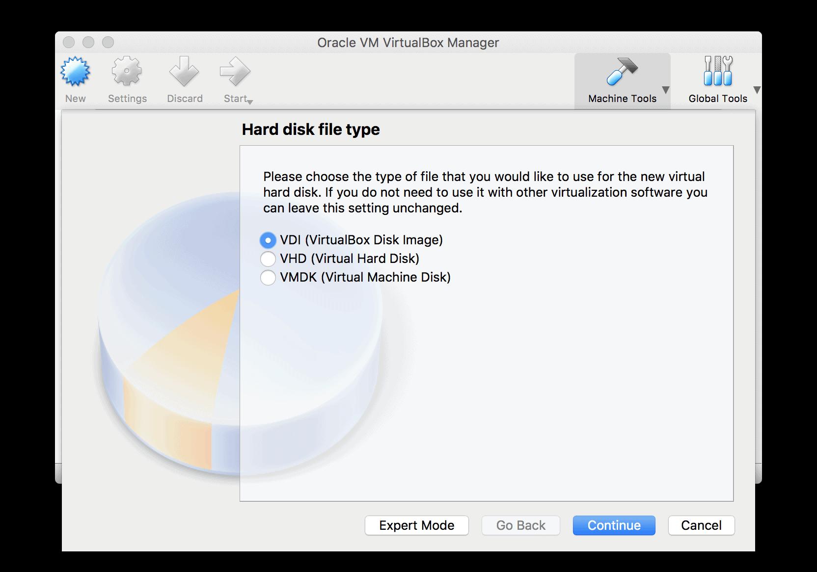 VirtualBox HDD type